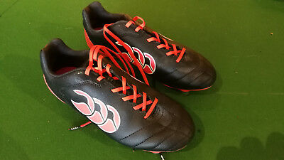 Childrens size 4 Canterbury studs rugby boots - red and black