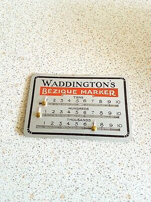 Vintage Aluminium Waddingtons Bezique Marker Playing Card Games