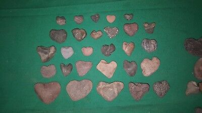 💗Nice lot of assorted Heart Shaped Rocks from Oregon💗