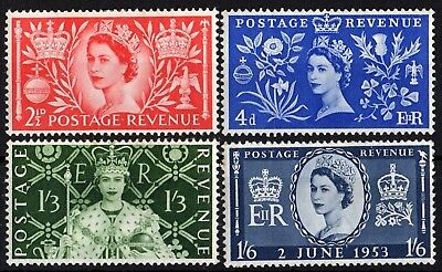 sg.532-35.  coronation.  M/MINT + USED sets.