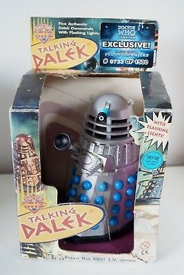 2001 Dr Who Talking Dalek by Product Enterprise Ltd - Box Included