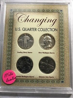 US Quarter Collection Standing Liberty, Washington, Bicentennial,State  #H526