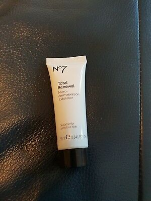Boots No7 Total Renewal Micro-demabrasion Exfoliator 25 ml NEW AND SEALED