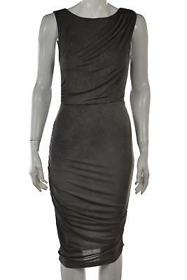 0a8a947f Alice + Olivia Air Womens Dress Size XS Gray Solid Sheath Bodycon Knee  Length