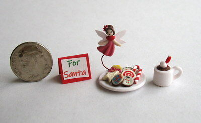 Handmade Miniature CHRISTMAS FAIRY COOKIES & COCOA FOR SANTA - OOAK C. Rohal