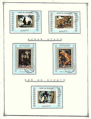 """AJMAN STATE Amazing Collection V.F. Used Stamps Hinged on list """" Animals """""""