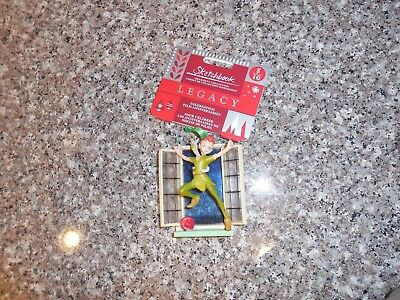 Disney Store Peter Pan & Tinkerbell Sketchbook 2018 Ornament New w/ Tags in Box