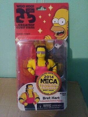 NECA THE SIMPSONS 2014 SDCC WWE Bret Hart  Action Figures