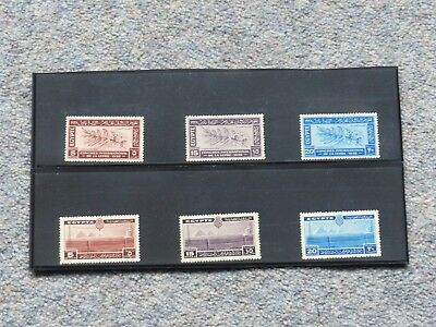 2 X Sets Of 3 Egyptian Stamps From 1938. Mint Condition.