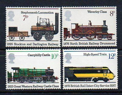 "Britain: A Superb Full Set of 1975 MNH ""150th Anniv of Public Railways"" Issues"