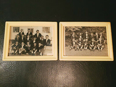 Vintage Hi-Y High School Students Framed Photographs YMCA Patches Photos