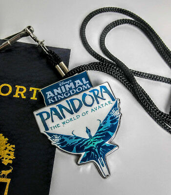 Disney Cast Exclusive Preview PANDORA Avatar Bolo LANYARD with Backstage Pass