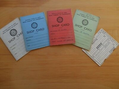 4 Shop Cards - National Union of Sheet Metal Workers & Braziers 1959-62 +1 other