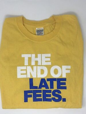 Blockbuster Yellow The End of Late Fees Rare Vintage Shirt Men's Size L