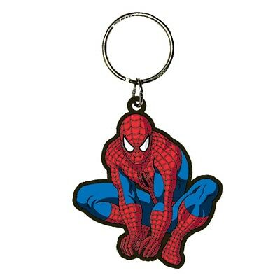 Genuine Marvel Comics The Amazing Spiderman Crouch Pose Rubber Keyring Key Fob