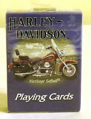 NEW Harley-Davidson Heritage Softail Sealed Single Deck Playing Cards Made in US
