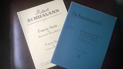 Schumann Fantasie Pieces and 3 Romances for Clarinet & Piano