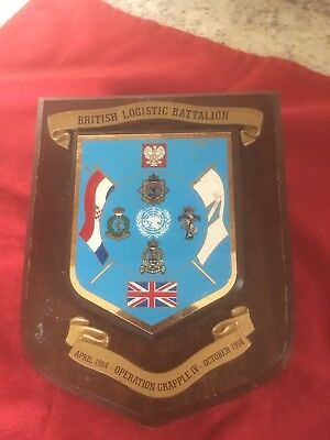 military wall plaque