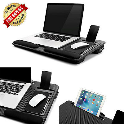Portable Laptop Lap Desk Table Tray Stand Pillow Foam Cushion For Lap Upto 17 3