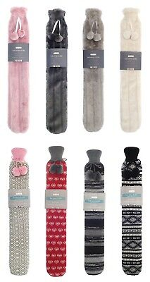 Extra Long Cosy Hot Water Bottle 72cm PVC With Removable Cover