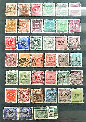 Pre Ww2 Lot Of 39 Old Germany  Stamps , Nice