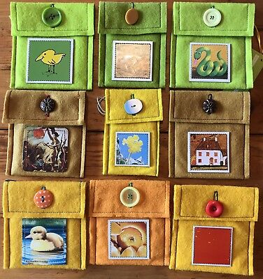 Change Purses Lot Of 9 Wool Felt Coin Purses Handmade Wholesale Lot Green Yellow