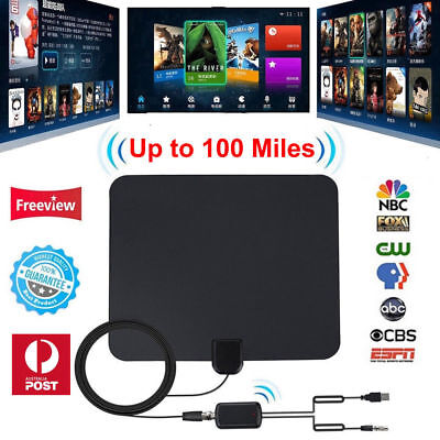 New Antenna TV Digital 200 Mile Range Skywire TV Indoor 1080P 16ft 4K Coax Cable