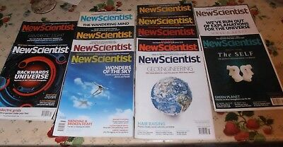 New Scientist magazines, 13, from 2010 (1), 2011 (1) to 2012 (9), 2013 (2). Good