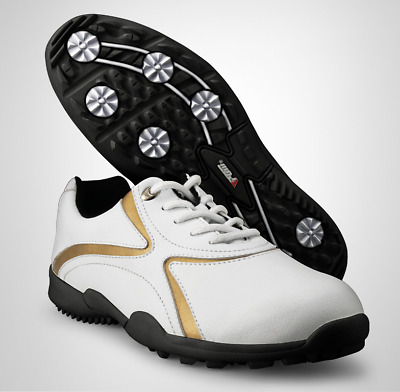 Mens Golf Shoes Leather Side-Waterproof Anti-skid Breathable Outdoor Sneaker