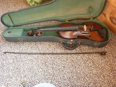 Vintage 1920 Rare Cs Buchanan 4/4 Violin Lupot Bow No String Orig Sales Receipt