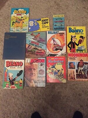 BEANO ANNUAL 1973 74 76 Andy Capp Valiant 71 Job Lot