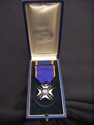 Luxembourg Duchy Merit Order Of Adolph Of Nassau Officer Cross With Sabers Box