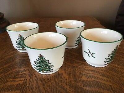 Spode Christmas Tree, England S3324-U, Votive Cups, Set of 4 New in Box