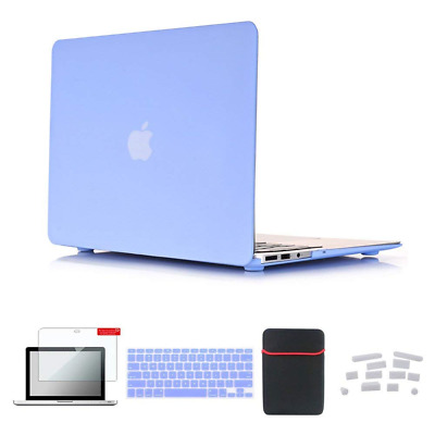 Macbook Air Case Soft-Touch Plastic Hard with Silicone Keyboard Cover NEW US