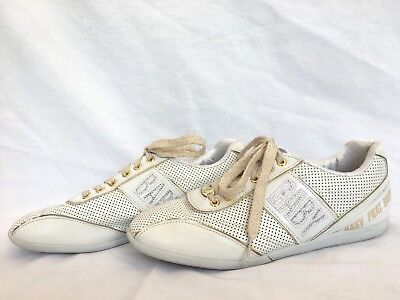 5cfc18d9ed8 BABY PHAT WHITE leather sneaker shoes w/ white rhinestones US ladies ...