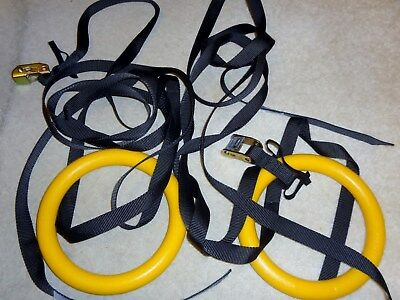 Yes4All Olympic Exercise Fitness Crossfit Gymnastic Rings & Straps