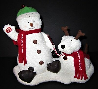 Hallmark Jingle Bells Pals 2004 Snowman & Dog Snow What Fun, Sing, Dance, & Bark