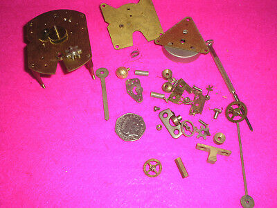 Collectable Antique Clock Parts Assorted Mixed Lot Brass Metal