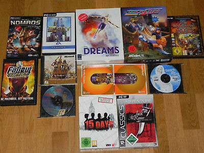 Games Sammlung - 13 PC Spiele: Age of Empires, Sim City, Fallout, Dreams, Nomads