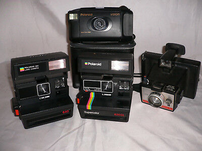 Polaroid 640 + 635 CL + Vision + Colorpack 80, Sofortbildkameras, Konvolut, Lot