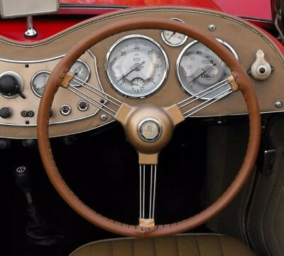 Traditional Leather Steering Wheel Cover / Glove Mg Td Tf Ya Yb Yt, Ta Tc, J1 J2