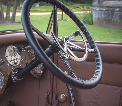 TRADITIONAL LEATHER STEERING WHEEL COVERS / GLOVES for VETERAN & VINTAGE CARS