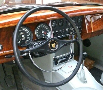 CLASSIC LEATHER STEERING WHEEL COVER / GLOVE JAGUAR Mk1, Mk2, 'S' TYPE, 420,