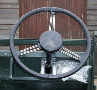 Classic Fine Quality Leather Steering Wheel Cover / Glove - Land Rover Series 1