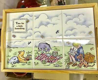 ADORABLE Winnie the Pooh Ceramic Serving Tray