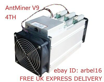 New Antminer V9 4THs SHA256 ASIC Bitcoin Miner In Stock - FREE UK Delivery