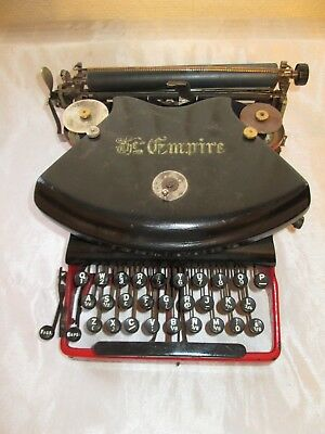 VINTAGE ANTIQUE RARE RED ' THE EMPIRE ' TYPEWRITER CIRCA LATE VICTORIAN / 1900s