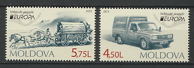 "Moldova 2013 CEPT Europa ""Postal Vehicles"" 2 MNH stamps"