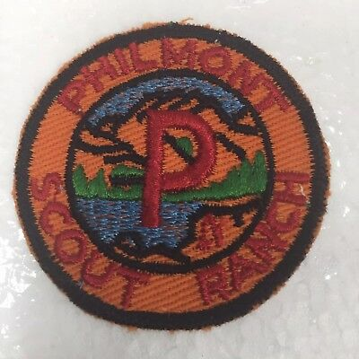 Vintage Philmont Scout Ranch Patch Boy Scouts 2 Inch Camp BSA