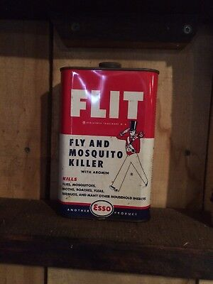 ESSO FLIT Sprayer & can vintage insecticide tin bug killer spray